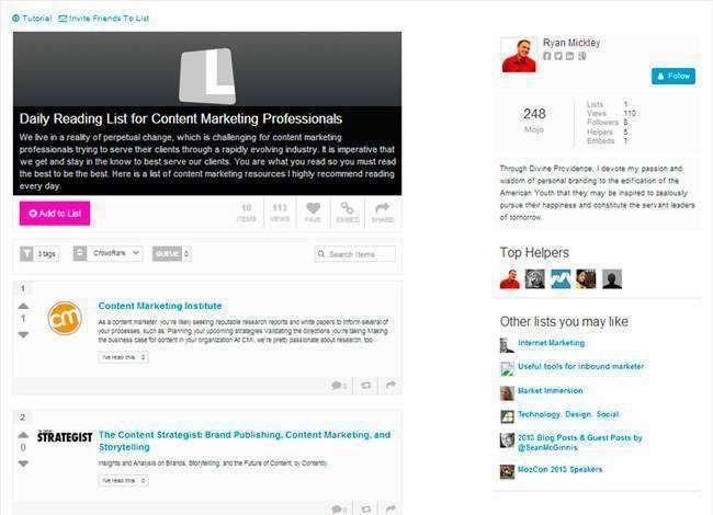 Способи використання сервісу List.ly в маркетингових цілях