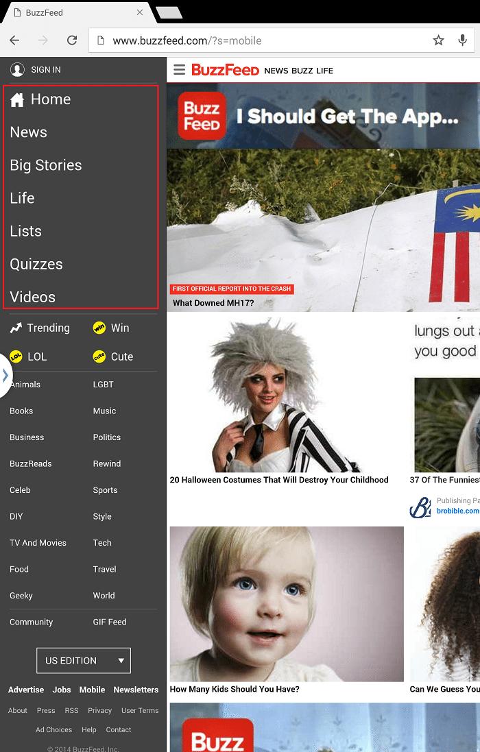 14 класних фішок з 11 кращих мобільних сайтів